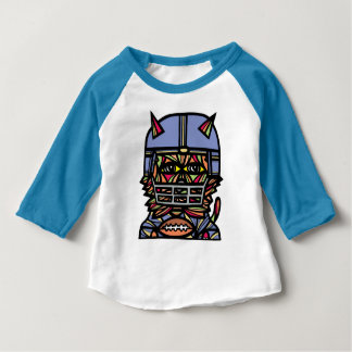 "T-shirt raglan du bébé 3/4 du ""gril KAT"""