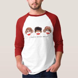 T-shirt raglan effronté de logo de 3 petit singes