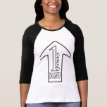 T-shirt raglan noir/blanc de 1 fille fraîche