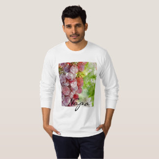 T-shirt Raisins pourpres d'aquarelle de Napa Valley.