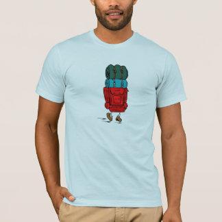 T-shirt Randonneur de bande dessinée avec le grand sac à