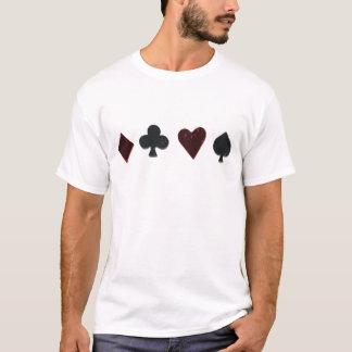 T-shirt Rangée de costume de carte de jeu
