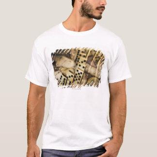 T-shirt Rangée des dominos sur la carte de Vieux Monde 2