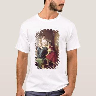 T-shirt Raphael ajustant la pose de son modèle sien