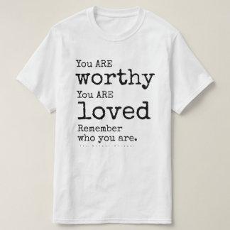 T-shirt Rappelez-vous qui vous ÊTES