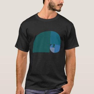 T-shirt Rapport d'or, spirale de Fibonacci