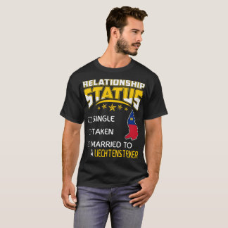 T-shirt Rapport Liechtensteiner marié pris simple