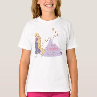 T-shirt Rapunzel et Pascal dans le pourpre