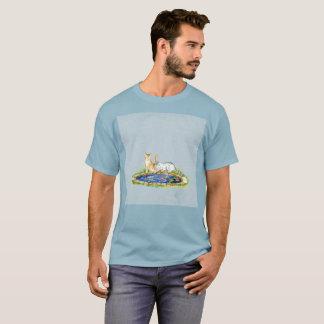 T-shirt rare d'aquarelle d'art d'étang d'eau de