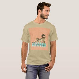 T-shirt rare d'aquarelle de bout droit de Gato de