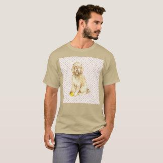 T-shirt rare de caniche de chien d'aquarelle