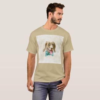 T-shirt rare de chien d'aquarelle de fantaisie de