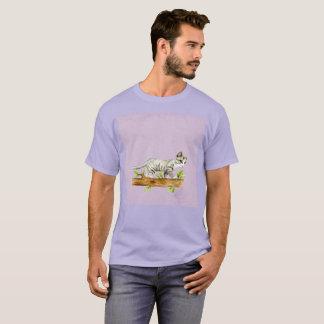 T-shirt rare de Gato de chat d'aquarelle