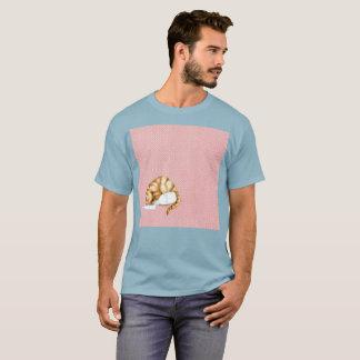 T-shirt rare renversé d'aquarelle orange de Gato