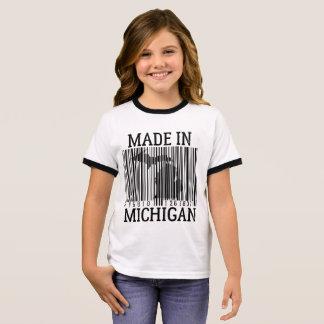 T-shirt Ras-de-cou fait dans la pièce en t de sonnerie de filles de