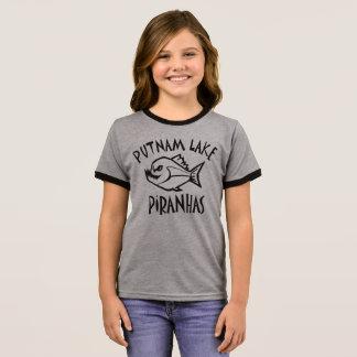 T-shirt Ras-de-cou Filles de pièce en t de sonnerie de piranhas de