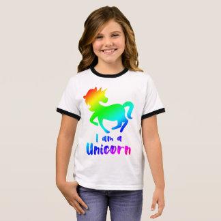 T-shirt Ras-de-cou Je suis une licorne - conception magique