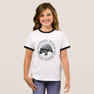 T-shirt Ras-de-cou La tortue d'îles de Galapagos badine la pièce en t