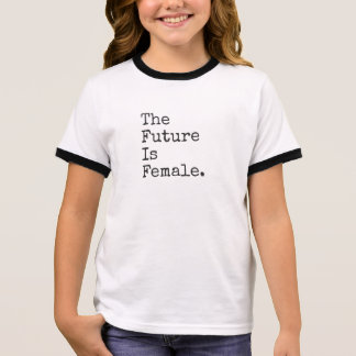 T-shirt Ras-de-cou L'avenir est pièce en t femelle d'enfants