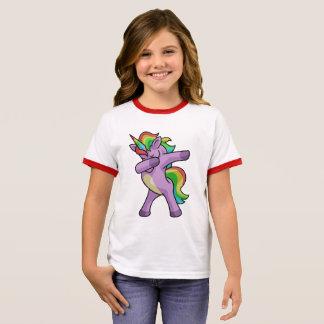 T-shirt Ras-de-cou Licorne mignonne Dabbers