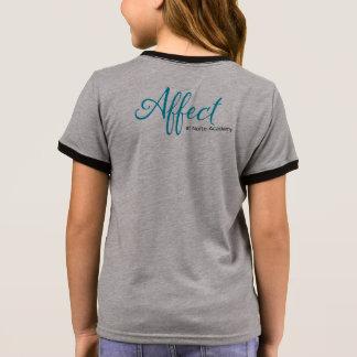 """T-shirt Ras-de-cou Pièce en t de """"travail"""" d'enfants d'affect"""