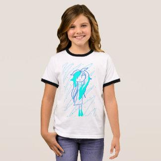 T-shirt Ras-de-cou Princesse Blue
