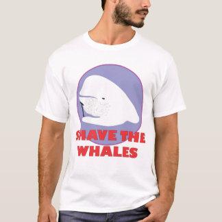 T-shirt Rasez la chemise de baleines