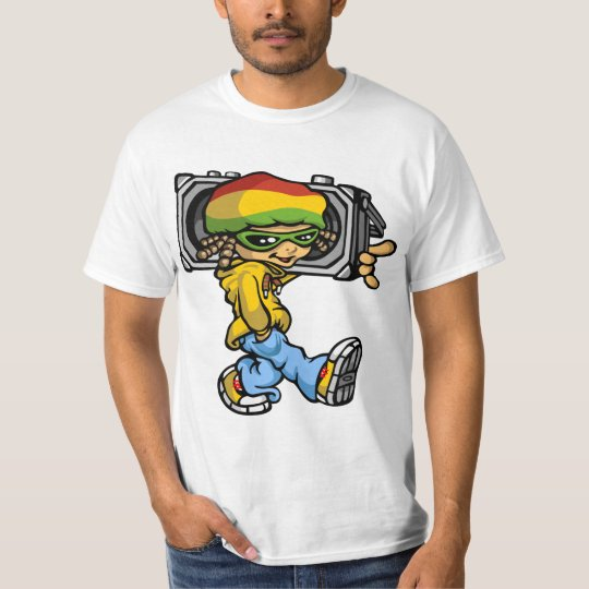 T-shirt Rasta boy with radio