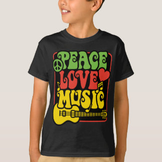 T-shirt Rasta PEACE-LOVE-MUSIC
