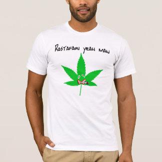 T-shirt rastafari yeah man blanc
