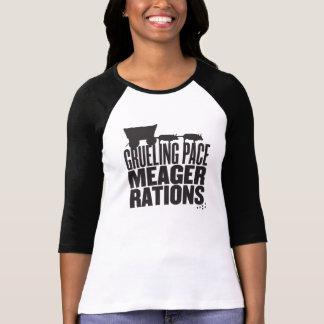 T-shirt Rations maigres de pas épuisant (pièce en t de