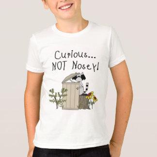 T-shirt Raton laveur curieux
