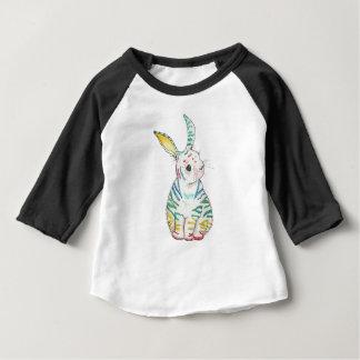T-shirt rayé de bébé de lapin de longue douille