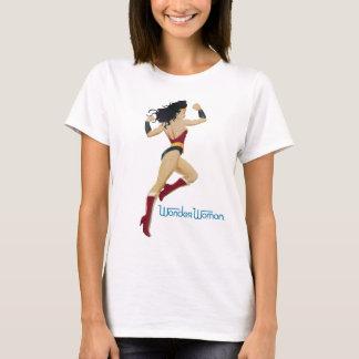 T-shirt Rayon de soleil et étoiles de ville de femme de