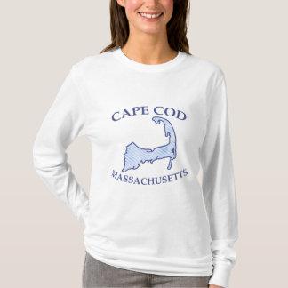 T-shirt Rayure bleue de très bon goût de carte de Cape Cod