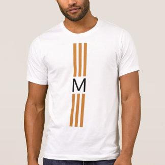 T-shirt Rayures en bronze modernes de monogramme