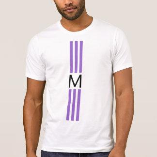 T-shirt Rayures modernes d'améthyste de monogramme