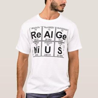 T-shirt Re-Al-GE-Ni-U-s (vrai génie) - complètement