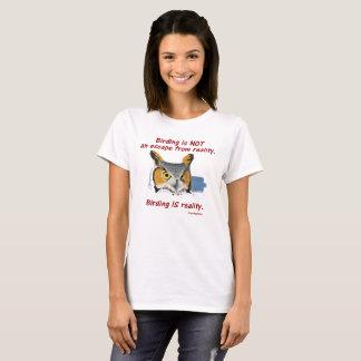 T-shirt Réalité T de Birding des femmes -- Grand hibou à