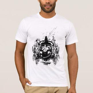 T-shirt rebelle de crâne de Gasmask