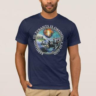 T-shirt Rébellion de thé à la chemise de tyrans