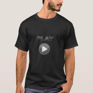 T-shirt Rebobinez l'amusement - poussez juste le jeu