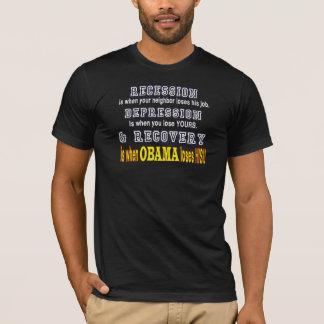 T-shirt Récession, dépression et relance