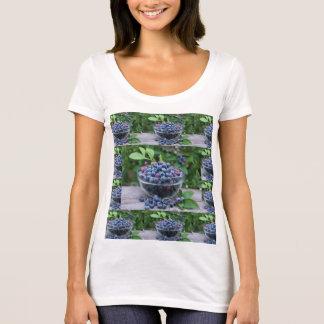 T-shirt Recette végétarienne de myrtilles de cuisine de