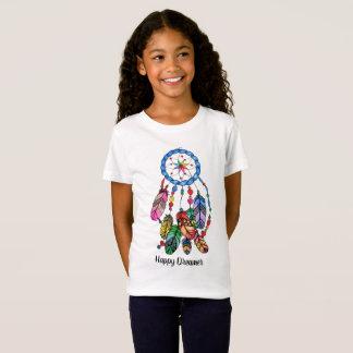 T-Shirt Receveur de rêve d'arc-en-ciel d'aquarelle et mots