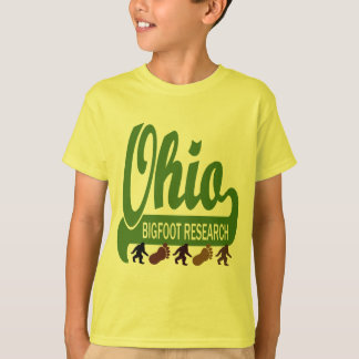 T-shirt Recherche de l'Ohio Bigfoot