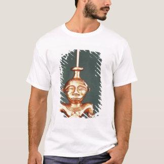 T-shirt Récipient de chaux d'or moulé, Quimbaya