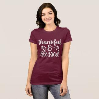 T-shirt Reconnaissant et béni