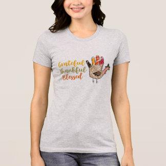T-shirt Reconnaissant reconnaissant de thanksgiving de