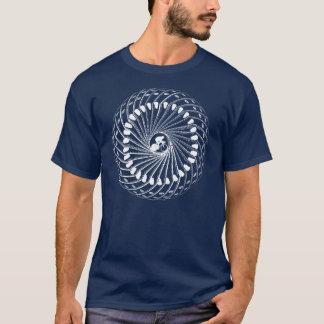 T-shirt Recyclage dans l'oeil du cycle de l'athlète des